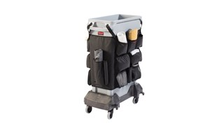 Slim Jim® Caddy Bag maximises space efficiency by providing onboard storage for all of the supplies needed for cleaning and liner changes on-the-go.