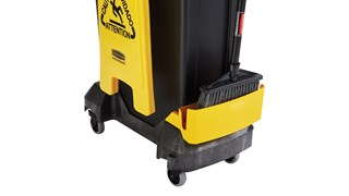 Rubbermaid Commercial Single-Stream Slim Jim® Cleaning Cart is a compact and purpose-built solution for all-in-one sanitation and waste collection. The cleaning cart helps store and transport common cleaning tools, hand Sanitiser, and disinfecting wipes. It consolidates all the supplies you need in one solution to reduce trips and improve cleaning productivity.