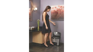 The Rubbermaid Commercial Impressions™ Step-On Container features a slim profile and small footprint to fit in tightest spaces. Impressions™ Step-On containers are constructed with premium-quality materials and meet the needs of any environment with efficiency, safety, and durability.