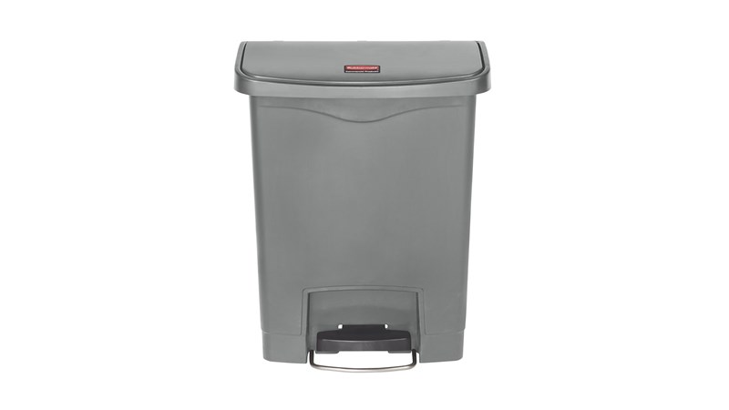 The Rubbermaid Commercial Slim Jim® Step-On Container features a slim profile and footprint to fit in tightest spaces. Slim Jim® Step-On containers are constructed with premium-quality materials and meet the needs of any environment with efficiency, safety, and durability.