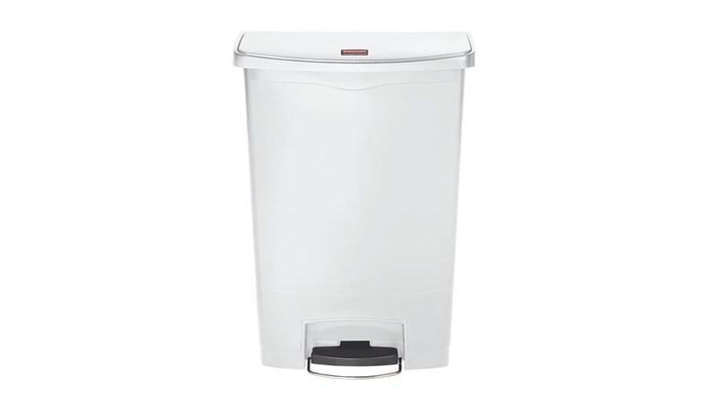De Slim Jim® Step-On-container van Rubbermaid Commercial heeft een slank profiel en is compact om in de kleinste ruimtes te passen. Slim Jim® Step-On-containers zijn gemaakt van hoogwaardige materialen en voldoen op een efficiënte, veilige en duurzame manier aan de behoeften van elke omgeving.