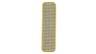 The Rubbermaid Commercial HYGEN™ Microfibre Super Scrubber Wet Pad is constructed of a premium split nylon/polyester-blend Microfibre with vertical scrubber stripes to help remove stubborn spots and clean into tile grout lines.