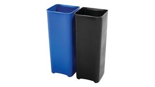 Dieser Slim Jim® Innenbehälter von Rubbermaid Commercial ist für den Slim Jim® Step-On-Tretabfallbehälter mit seitlichem Pedal (separat erhältlich). Hergestellt aus strapazierfähigem, durchstoßfestem Kunststoff, zeichnet sich dieser Innenbehälter durch seinen Abfallsackhalter und seine weichen Konturen aus, die eine einfache Reinigung ermöglichen.