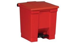 Ce collecteur à pédale Rubbermaid est conçu pour les déchets sanitaires.