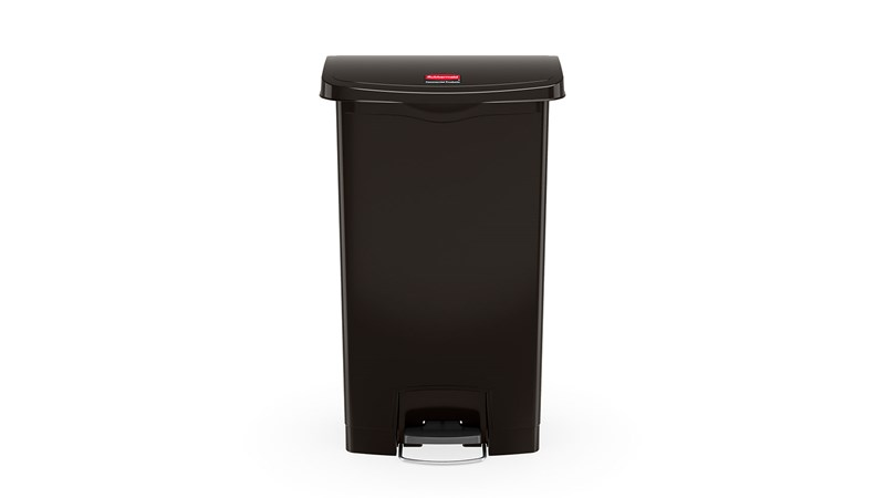 The Rubbermaid Commercial Streamline™ Step-On Container features a slim profile and small footprint to fit in tightest spaces. Streamline™ Step-On containers are constructed with premium-quality materials and meet the needs of any environment with efficiency, safety, and durability.