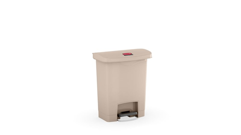 The Rubbermaid Commercial Slim Jim® Step-On Container features a slim profile and sShopping Centre footprint to fit in tightest spaces. Slim Jim® Step-On containers are constructed with premium-quality materials and meet the needs of any environment with efficiency, safety, and durability.