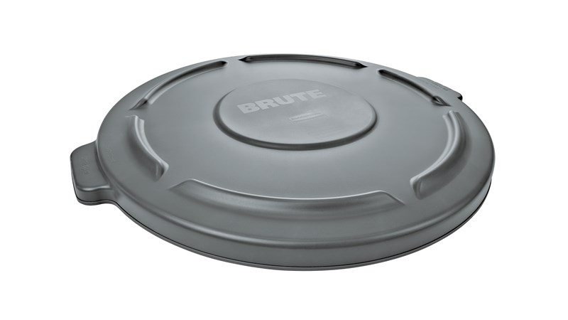 The Rubbermaid Commercial BRUTE® Self-Draining  Lids feature self-draining channels that prevent water from pooling.