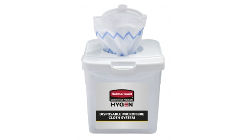 HYGEN™ Disposable Microfibre Cloth Charging Tub is a component of the Disposable Microfibre System that effectively moistens 40 cloths at once while ensuring correct saturation levels. The system combines superior Microfibre with built-in scrubber technology, in a disposable application, to prevent cross-transmission and reduce the risk of healthcare-associated infections.