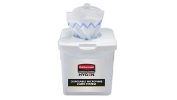 HYGEN™ Disposable Microfibre Cloth Charging Tub, 4 Pack