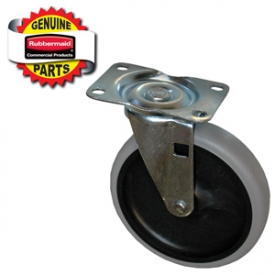 Replacement castors are designed specifically for Rubbermaid Commercial products.