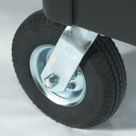 """The Rubbermaid Commercial 8"""" (20.3cm) Pneumatic castor Kit works with your Rubbermaid cart."""