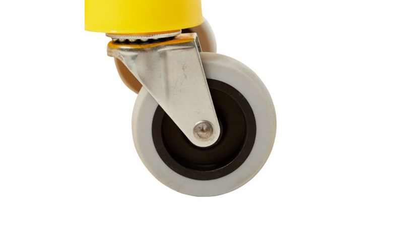 One-piece design: integrated bucket and wringer. Holes in both wringing plates force more water from mop in less time. Reverse-wringing mechanism for more comfortable use. Built-in lift handles on bottom of bucket make lifting and emptying easier.
