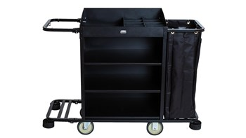 The Professional Light Housekeeping Cart has been designed with your housekeeping needs in mind, to enhance productivity with a smaller footprint and high storage capacity.