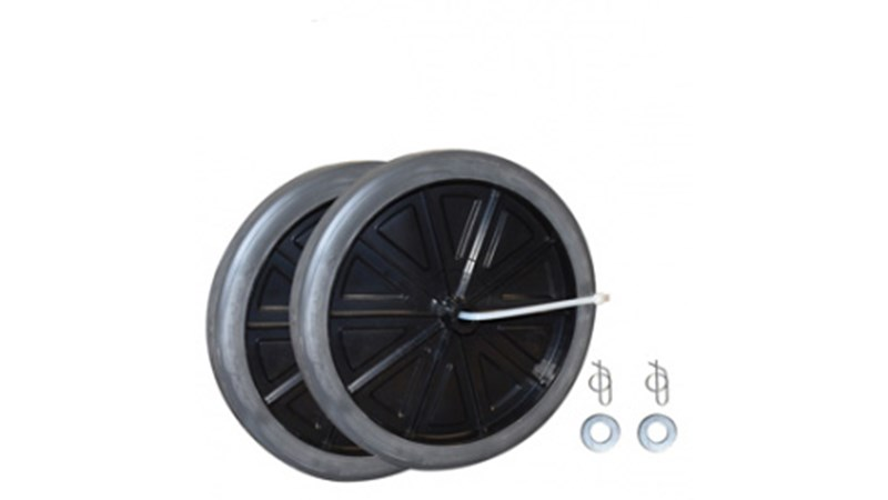 Replacement Wheel kit is designed for use with the Mega BRUTE mobile waste collectors. castors work as part of a 'diamond' wheel and castor pattern that allows easy maneuverability. Sturdy replacement wheels allow unit to maintain functionality for an extended service life.