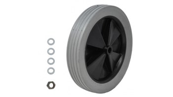 The Rubbermaid Commercial Tilt Truck (30.5cm) Wheel Kit for use with the 0.57 Cubic M tilt truck and includes 4 washers and 1 axle nut.