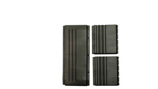 The Rubbermaid Commercial Back Panel, Side Panel Kit for X-tra Cart, Black - Replacement Part.