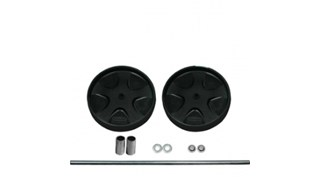 """The Rubbermaid Commercial 8"""" (12.3cm) Wheel and Axle Assembly Kit, Black"""