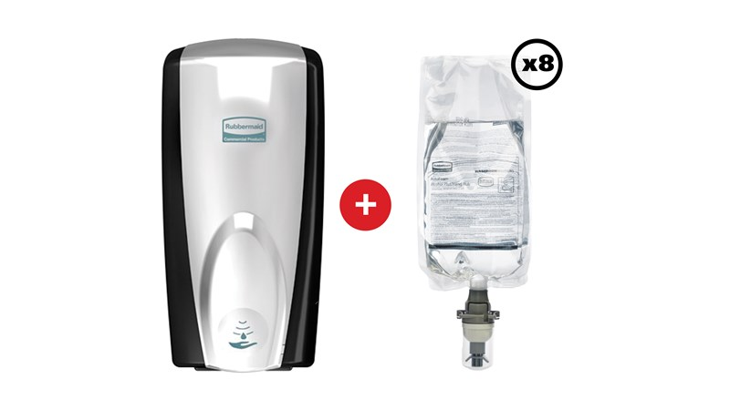 The AutoFoam Dispenser is an effective way to maintain hand hygiene and prevent the spread of bacteria. With a light, airy consistency the AutoFoam Enriched Foam Alcohol Hand Sanitiser acts quickly to kill 99.99% of germs.