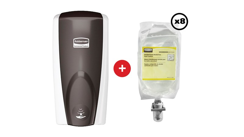 The AutoFoam Enriched Foam Alcohol-Free Hand Sanitiser quickly kills microorganisms on the hand, whilst the touch-free delivery of the AutoFoam Dispenser helps reduce the spread of bacteria.  Refills are alcohol, dye and fragrance free.
