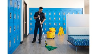 The Rubbermaid Commercial Web Foot® Microfibre Tube Mop features continuous filament bi-component Microfibre that cleans, absorbs, and releases quickly and easily.