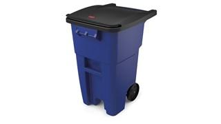 Voici un conteneur mobile conçu pour la collecte des déchets et la manutention du matériel.