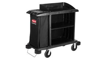 Executive Traditional Compact Housekeeping Cart, Black