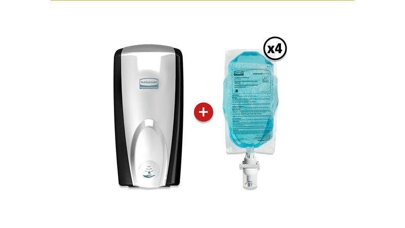 The AutoFoam Moisturising Hand Soap dispenses in a light, airy consistency that lathers quickly for an easy hand wash, leaving hands soft after use. The touch-free AutoFoam Dispenser reduces the spread of bacteria and germs.