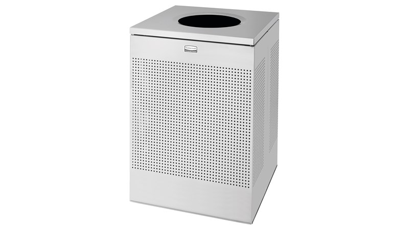The sleek Silhouettes 151L FGSC22 Decorative Square Indoor Waste Container has a contemporary perforated pattern designed to seamlessly and beautifully blend with modern facilities and environments. High-quality materials and craftsmanship ensure containers can withstand the rigours of everyday use.