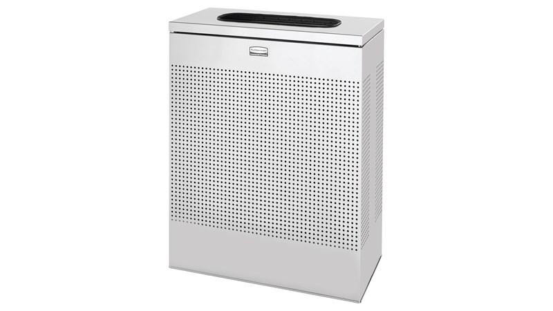 Der schlanke und dekorative Silhouettes Abfallbehälter für Innenräume mit 85Liter Fassungsvermögen (FGSR18) fügt sich mit seinem modernen Lochmuster harmonisch und formschön in moderne Einrichtungen und Umgebungen ein.
