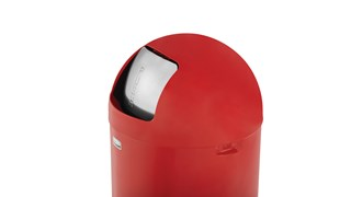 Featuring a classic, round top design, the Round Top 45 l FGR1530 Round Top Decorative Indoor Waste Container is constructed from heavy-gauge, fire-safe steel and complies with OSHA standards.