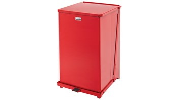 Defenders® Square Step Can 95L Bin Red