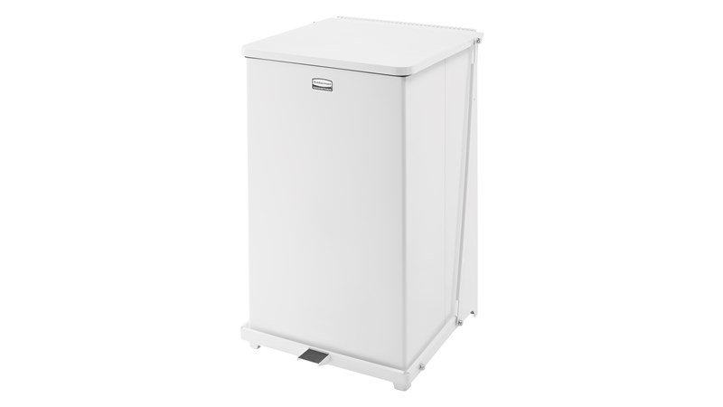 Der 4-eckige Defenders®-Tretabfallbehälter für Innenbereiche mit 95Liter Fassungsvermögen (FGST40) ist ideal für Krankenhäuser, Arztpraxen und andere medizinische Einrichtungen.