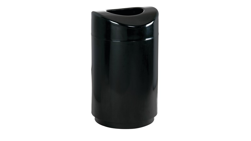 Combining contemporary appearance with lasting durability, the Rubbermaid Eclipse R2030E black waste receptacle offers fresh, functional design.