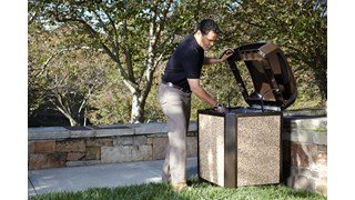 Pair the River Rock decorative stone panels with 35 Gal Landmark Series® Classic Container (sold separately) to add final touch creating an attractive receptacle.