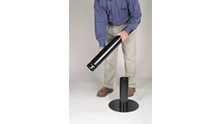 The Smoker's Pole is a simple, space-saving solution for controlling smokers' waste.