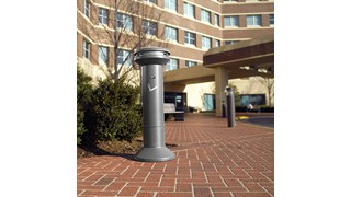 Infinity™ Ultra-High Capacity Smoking Receptacle offers sophisticated styling and all-metal construction for attractive and efficient smoking litter management.