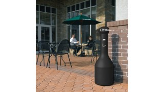 The Rubbermaid Commercial Stainless Steel Infinity™ Ultra-High Capacity Smokers Station offers sophisticated styling and all-metal construction for attractive and efficient smoking litter management.