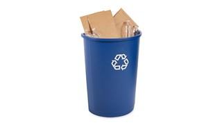 Die halbrunden Untouchable®-Abfallkörbe ermöglichen eine funktionale Abfallsammlung in elegantem Design.
