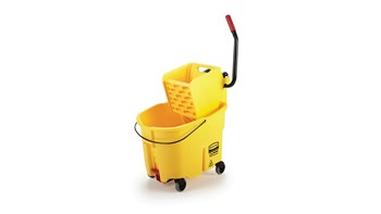 WaveBrake® 33L Side Press Bucket and Wringer, Drain, Yellow