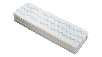 HYGEN™ 18 IN Disposable Microfiber Pad, White