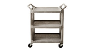 The Rubbermaid Commercial Utility Cart is a versatile, durable cart able to perform a wide variety of tasks.