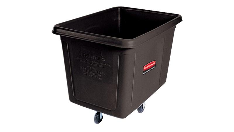 Ce chariot Rubbermaid de 0,57m3 fait partie d'une gamme complète de chariots cubiques qui contribuent à la collecte des déchets, au transport du matériel et à la manutention du linge.