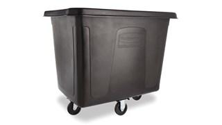 Ce chariot Rubbermaid de 0,45m3 fait partie d'une gamme complète de chariots cubiques qui contribuent à la collecte des déchets, au transport du matériel et à la manutention du linge.