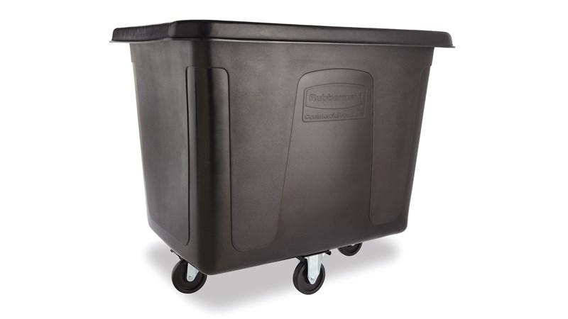Die 0,45-m³-Transportwanne von Rubbermaid Commercial gehört zu einer Serie von Transportwannen für die Abfallsammlung, sowie den Material- und Wäschetransport.