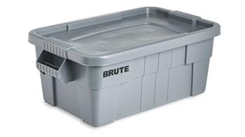 Der Brute-Allzweck-Lebensmittelvorratsbehälter mit Deckel von Rubbermaid Commercial ist ideal für den Gastronomiebereich. Diese Lebensmittelvorratsbehälter aus Kunststoff haben eine Zertifizierung gemäß NSF-/ANSI-Standard-2 für den Einsatz in der Lebensmittelhandhabung und -verarbeitung.