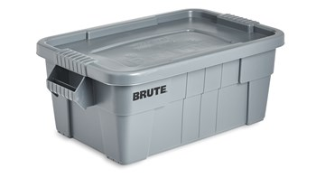 BRUTE® 53L Tote with Lid, Grey