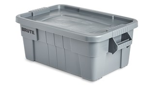 The Rubbermaid Commercial BRUTE® Food Storage Tote with Lid is ideal for the food service industry, these plastic food storage containers meet NSF/ANSI Standard 2 for use in food handling and processing.