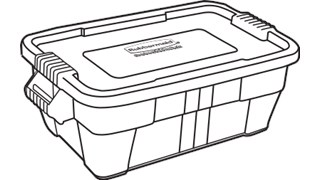 The Rubbermaid Commercial BRUTE Food Storage Tote with Lid is the ideal solution for storing and transporting food in commercial kitchens.