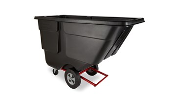 Rotomoulded Tilt Truck, Utility Duty, 1 Cubic Yard (0.76 Cubic M), Black