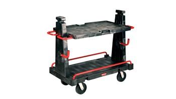 Ce chariot Rubbermaid a une capacité de charge de 907kg. Il est parfait pour transporter des charges lourdes et volumineuses dans les environnements les plus variés (commerce, bâtiment, etc.).